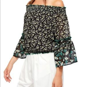 FREE PEOPLE Rose Valley off the shoulder top